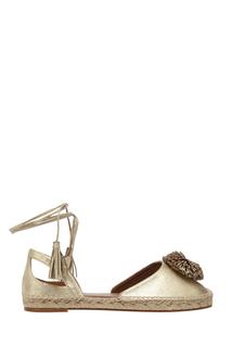 Кожаные туфли Sunshine Espadrille Flat Aquazzura