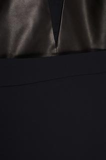 Платье из шелка и кожи Erica Zaionts