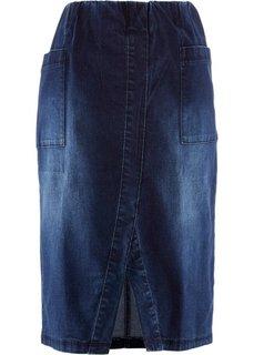 Юбка с разрезом (синий «потертый») Bonprix