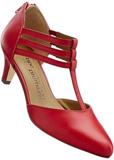 Кожаные туфли на ремешке (змеиный рисунок/коньячный) Bonprix