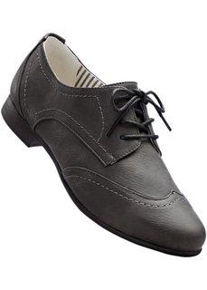 Туфли на шнуровке (цвет пудры) Bonprix
