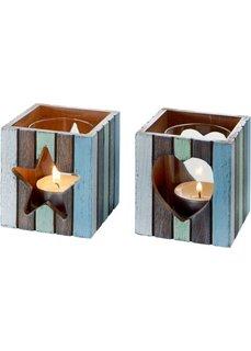 Подсвечники для свечей-таблеток Малибу (2 шт.) (разные цвета) Bonprix