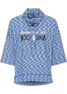 Спортивная футболка с рукавом 3/4 (дымчато-серый меланж) Bonprix