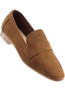 Кожаные туфли (светло-бежевый) Bonprix