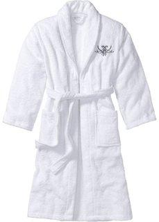 Купальный халат (белый) Bonprix