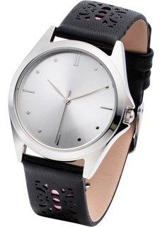 Часы с перфорацией на браслете (песочный/мятный) Bonprix
