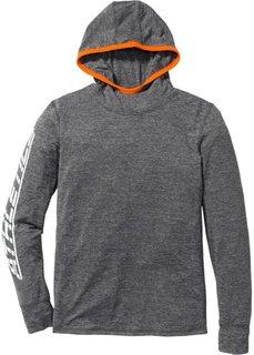 Функциональная футболка Slim Fit с длинным рукавом (черный) Bonprix