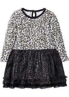 Платье кошки (леопардовый/черный с рисунком) Bonprix