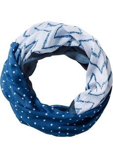 Шарф-снуд в стиле пэчворк (темно-синий/белый) Bonprix
