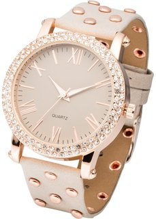 Наручные часы с заклепками (черный/серебристый) Bonprix
