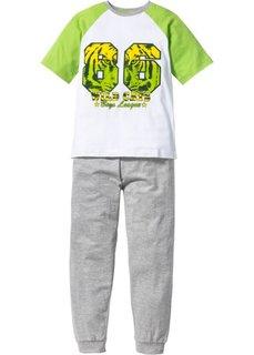 Пижама (2 изд.) (зеленый/белый) Bonprix