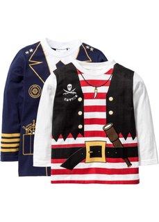 Футболки с длинным рукавом пират + капитан (2 изд.) (цвет белой шерсти+темно-синий ) Bonprix
