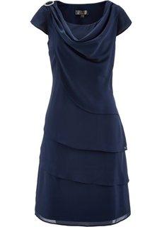 Многослойное шифоновое платье (омаровый) Bonprix