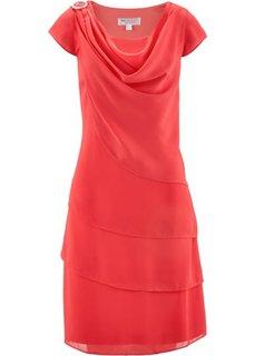 Многослойное шифоновое платье (темно-синий) Bonprix