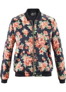 Блуза с цветочным принтом (черный с рисунком) Bonprix