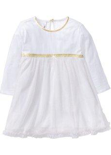 Платье ангела (белый/золотистый с блестками) Bonprix