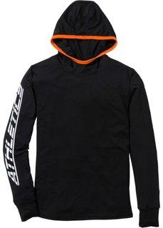 Функциональная футболка Slim Fit с длинным рукавом (серый меланж) Bonprix