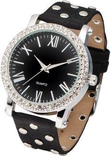 Наручные часы с заклепками (серый/розово-золотистый) Bonprix