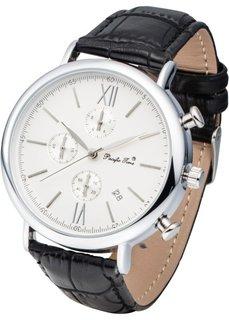 Мужские часы-хронограф (черный/серебристый) Bonprix