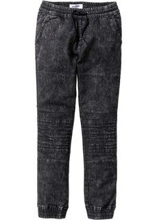 Байкерские джинсы Slim Fit (черный) Bonprix
