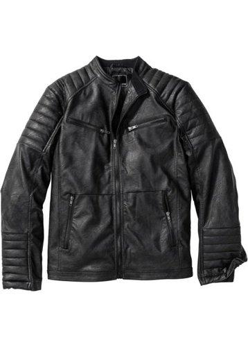 Куртка из искусственной кожи (черный)