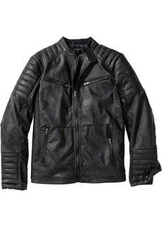 Куртка из искусственной кожи (черный) Bonprix
