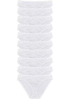 Трусики-слипы (10 шт.) (различные расцветки/цвет фукси) Bonprix