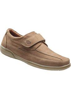 Удобные кожаные туфли от Brütting (песочный) Bonprix