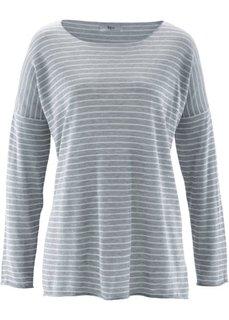 Вязаная футболка с рукавом 3/4 (темно-синий/белый в полоску) Bonprix