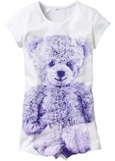 Пижама Медвежонок (2 изд.) (светло-серый меланж с рисунком) Bonprix