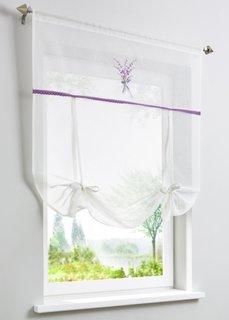 Римская штора с лентами Лаванда, кулиска (белый/лавандовый) Bonprix