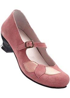 Удобные замшевые туфли (бежевый) Bonprix