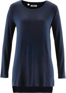 Удлиненная футболка с разрезами (серо-коричневый) Bonprix