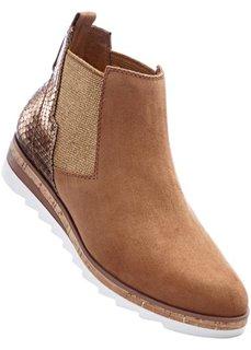 Ботинки от Marco Tozzi (коньячно-коричневый) Bonprix