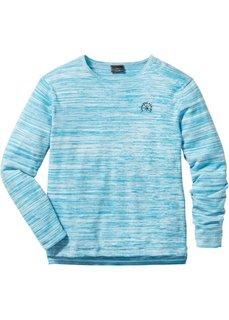 Пуловер Regular Fit (антрацитовый/кремовый меланж) Bonprix