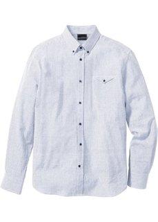Полосатая рубашка Regular Fit (темно-оливковый/белый в полоск) Bonprix