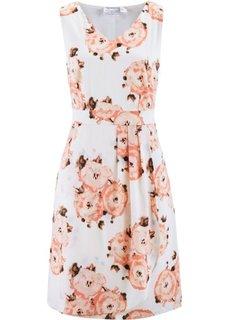 Платье с цветочным принтом (лососево-розовый с рисунком) Bonprix
