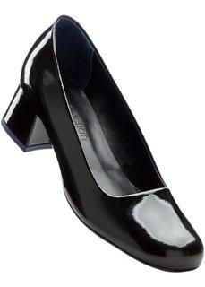 Кожаные туфли (серебристый металлик) Bonprix