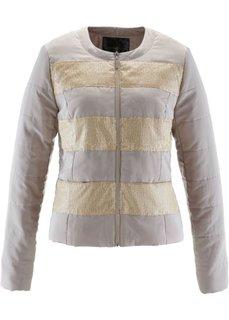 Стеганая куртка с пайетками (лососевый) Bonprix