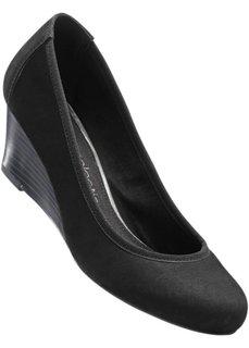 Кожаные туфли на танкетке (серо-коричневый) Bonprix