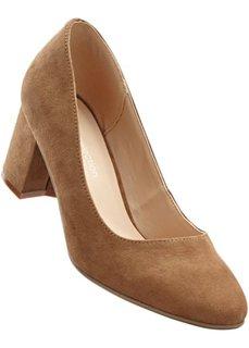 Туфли в двух вариантах ширины стопы, широкая стопа (коньячный) Bonprix