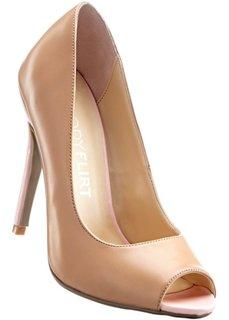 Туфли с открытым носком (нейви/телесный) Bonprix