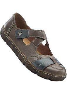 Удобные кожаные туфли (бежевый) Bonprix