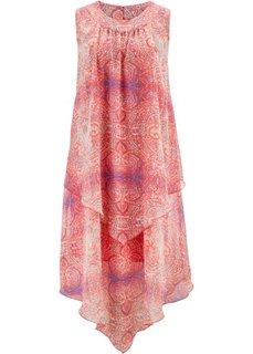 Платье с узором пейсли (коралловый с рисунком) Bonprix