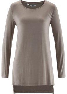 Удлиненная футболка с разрезами (черный) Bonprix