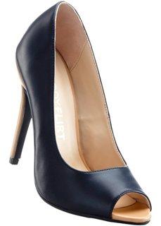 Туфли с открытым носком (телесный/винтажно-розовый) Bonprix