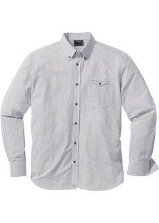 Полосатая рубашка Regular Fit (темно-синий/белый в полоску) Bonprix