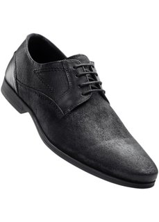 Кожаные туфли на шнуровке (темно-коричневый) Bonprix