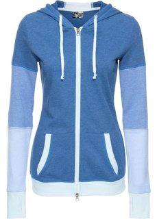Трикотажная куртка с длинным рукавом (светло-серый меланж) Bonprix