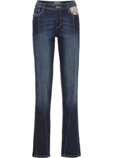 Классические стрейтчевые джинсы, cредний рост (N) (голубой) Bonprix